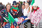 Beal supporters Kerri Anne Kissane, oisin Blake, Elenor Walsh, Elaine and Lucy Cahill, Annamay Wall and Donna Buckley at the Bernard O'Callaghan Memorial Senior Football Championship Final last Sunday in Ballylongford.