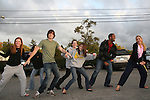 Zack Conroy - Lawrence Saint-Victor and fans dance - Guiding Light's actors meet fans at Stacy Jo's Ice Cream in McKees Rocks, PA on September 30, 2009. During the weekend of events proceeds from pink ribbon bagel sales at various Panera Bread locations will benefit the Young Women's Breast Cancer Awareness Foundation. (Photo by Sue Coflin/Max Photos)