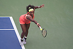 Serena Williams (USA) defeats Kiki Bertens (NED) 7-6, 6-3 at the US Open in Flushing, NY on September 2, 2015.