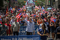 NEW YORK, NY - JUNE 11: Mayor Bill de Blasio marches along Fifth Avenue during the  NYC's 60th annual Puerto Rico Day parade led by mayor Bill de Blasio on June 11, 2017 in New York City. (Photo by Maite H. Mateo/VIEWpress/Corbis via Getty Images)