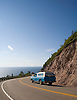 A seaside road along the Cabot Trail, a 184 mile loop on Cape Breton, Nova Scotia. The route includes dramatic coastal views, wildife, and quaint coastal fishing villages. Photo by Kevin J. Miyazaki/ReduxPhoto by Kevin J. Miyazaki/Redux