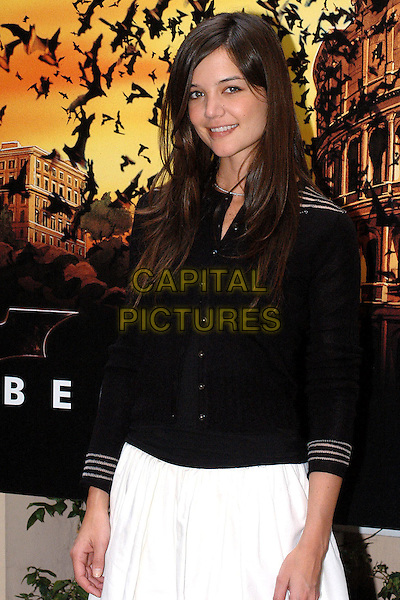 "KATIE HOLMES.""Batman Begins"" Photocall.Rome, Itlay, June 16th 2005..half length black cardigan top.Ref: OME.www.capitalpictures.com.sales@capitalpictures.com.?Omega/Capital Pictures."