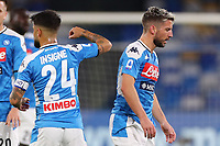 Lorenzo Insigne of Napoli and Dries Mertens <br /> Napoli 09-11-2019 Stadio San Paolo <br /> Football Serie A 2019/2020 <br /> SSC Napoli - Genoa CFC<br /> Photo Cesare Purini / Insidefoto
