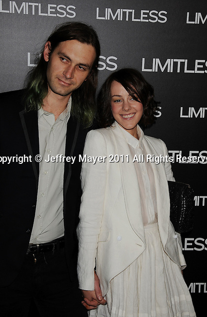 """HOLLYWOOD, CA - MARCH 03: Jena Malone and guest  attend the Los Angeles special screening of """"Limitless"""" at ArcLight Cinemas Cinerama Dome on March 3, 2011 in Hollywood, California."""