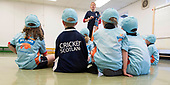 This image is free to use - A brand new coaching programme aims to turn cricket into one of Scotland's mainstream sports. Launched this week, All Stars Cricket aims to inspire five to eight year old children to take up the sport through a fun first experience of the game. The Cricket Scotland eight week programme begins in May and will see participating boys and girls develop their skills and make new friends in a safe and inclusive environment at one of the 50+ Scottish cricket clubs who have signed up to host and run the sessions. Registration is open from today with each child receiving a pack of cricket goodies including a cricket bat, ball, backpack, water bottle, personalised shirt and cap to keep so that they can continue their love of cricket when they go home. There will also be a chance for youngsters to meet current Scotland international players as part of All Stars Cricket, which will be led by fully trained and vetted activators at each club - picture shows — for further information please contact Ben Fox, Media Manager, Cricket Scotland on 07825 172 348 or at benfox@cricketscotland.com - - picture by Donald MacLeod - 20.03.2017 - 07702 319 738 - clanmacleod@btinternet.com - www.donald-macleod.com