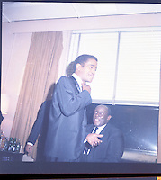 Singer Sammy Davis, Jr. and comedian Godfrey Cambridge
