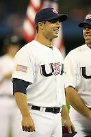 March 7, 2009:  Third baseman David Wright (4) of Team USA during the first round of the World Baseball Classic at the Rogers Centre in Toronto, Ontario, Canada.  Team USA defeated Canada 6-5 in both teams opening game of the tournament.  Photo by:  Mike Janes/Four Seam Images