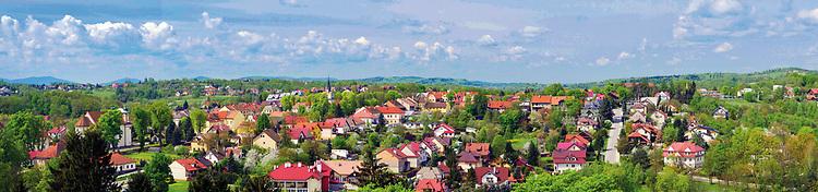 Panorama Nowego Wiśnicza widok z zamku