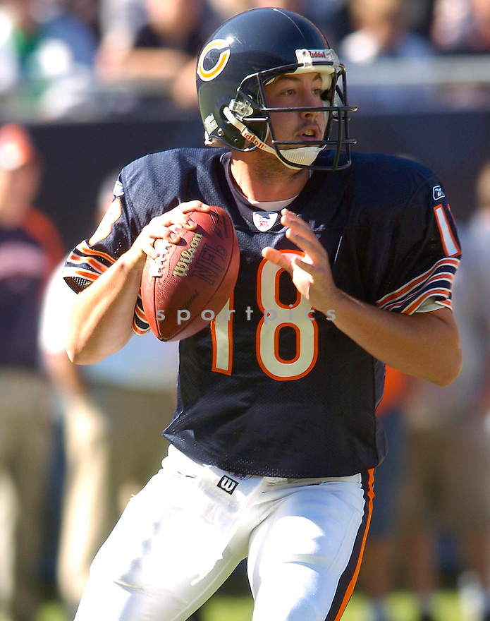 Kyle Orton, of the Chicago Bears, in action against the Minnesota Vikings during their game on October 16, 2005...Bears win 28-3..Chris Bernacchi/SportPics