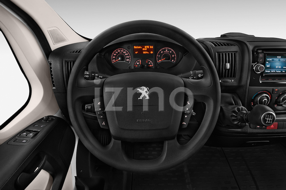 Car pictures of steering wheel view of a 2015 Peugeot BOXER L4H2 4 Door Cargo Van Steering Wheel