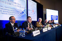 Plenary Session 2: 'The Modernization of Economy: Contribution of Finance to Infrastructures Projects', at Shanghai / Paris Europlace Financial Forum, in Shanghai, China, on December 1, 2010. Photo by Lucas Schifres/Pictobank