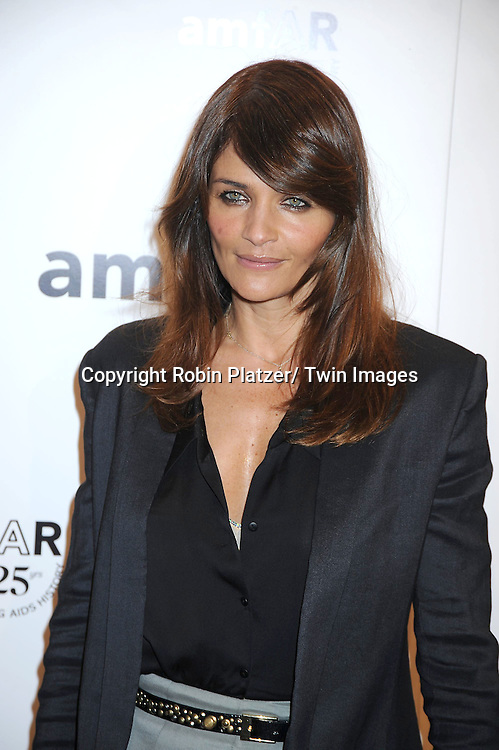 Helena Christensen attending the amfAR New York Gala on February 9, 2011 at Cipriani Wall Street in New York City. Dame Elizabeth Taylor, President Bill Clinton and Diane von Furstenberg were honored.