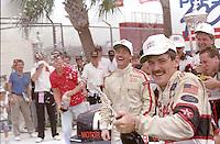 Davey Allison 1st place winner celebrates victory lane champagne Pepsi 400 at Daytona International Speedway in Daytona beach, FL on July 1, 1989. (Photo by Brian Cleary/www.bcpix.com)