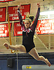 Kira Potapov of North Shore performs on the balance beam during the eight-team Cartwheel for a Cure gymnastics meet at Cold Spring Harbor High School on Monday, Jan. 16, 2017.