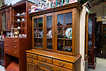 BETHLEHEM, CT. 11 January 2019-011119 - A Beautiful Hitchcock furniture hutch, in pristine condition is one of the many items offered in the 10,000 square foot facility at the Giant Indoor Flea Market in Bethlehem on Friday. The flea market will be open every weekend from now until next December. Bill Shettle Republican-American. Bill Shettle Republican-American