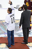 Neal Broten, Clay Matvick - The University of Minnesota-Duluth Bulldogs defeated the University of Michigan Wolverines 3-2 (OT) to win the 2011 D1 National Championship on Saturday, April 9, 2011, at the Xcel Energy Center in St. Paul, Minnesota.