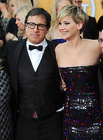 Jennifer Lawrence &amp; director David O. Russell at the 20th Annual Screen Actors Guild Awards at the Shrine Auditorium.<br /> January 18, 2014  Los Angeles, CA<br /> Picture: Paul Smith / Featureflash