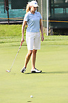 Duramed Futures Tours' Taylor Leon from Dallas; Texas reacts after missing her putt on the 9th hole at the Alliance Bank Golf Classic in Syracuse NY.