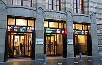 Nederland Amsterdam- Januari 2019. Beursplein 5 . De Amsterdamse Effectenbeurs op Beursplein 5. Het gebouw is een ontwerp van Joseph ( Jos ) Cuypers. De Beurs werd geopend in 1913. Foto Berlinda van Dam / Hollandse Hoogte