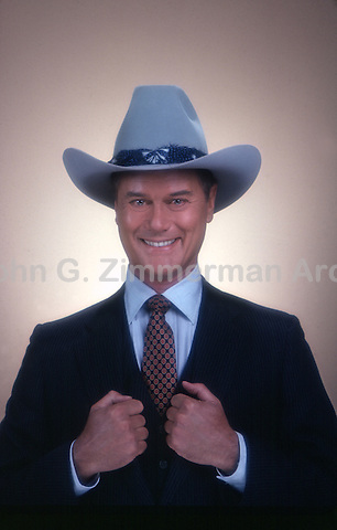"Larry Hagman as J.R. Ewing on ""Dallas,"" TV series, 1980. Photo by John G. Zimmerman."