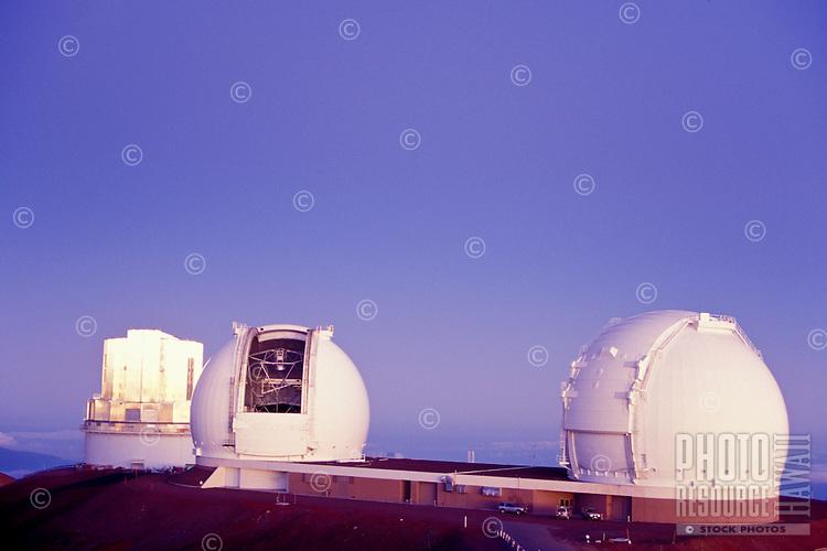 Observatories on Mauna Kea. Big Island of Hawaii