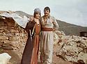 Iraq 1979 .In Nawzang, Azad Sagerma with his wife Maliha Kerim.<br /> Irak 1979.A Nawzang, Azad Sagerma avec sa femme Maliha Kerim