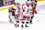 Stockholm 2014-02-24 Ishockey Hockeyallsvenskan Djurg&aring;rdens IF - S&ouml;dert&auml;lje SK :  <br /> S&ouml;dert&auml;ljes Jason Gregoire jublar med S&ouml;dert&auml;ljes Jacob Dahlstr&ouml;m efter sin reducering till 1-2 <br /> (Foto: Kenta J&ouml;nsson) Nyckelord:  jubel gl&auml;dje lycka glad happy