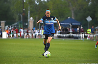 Kansas City, MO - Saturday May 07, 2016: FC Kansas City defender Amanda Frisbie (17) against Houston Dash during a regular season National Women's Soccer League (NWSL) match at Swope Soccer Village. Houston won 2-1.