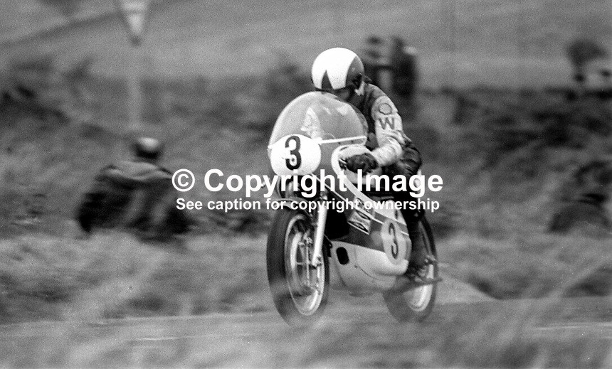 John Williams, British, rider, racing motorcyclist competing in 1973 Ulster Grand Prix. He won the 250, 350, and 500 cc races. He was a five-time winner of the North West 200 race in Northern Ireland and a four-time winner at the Isle of Man TT.[2] Williams died from injuries suffered while competing in the 1978 Ulster Grand Prix in Northern Ireland. 197308180571JW2<br /> <br /> Copyright Image from Victor Patterson, 54 Dorchester Park, Belfast, UK, BT9 6RJ<br /> <br /> t1: +44 28 9066 1296  (from Rep of Ireland 048 9066 1296)<br /> t2: +44 28 9002 2446  (from Rep of Ireland 048 9002 2446)<br /> m: +44 7802 353836<br /> <br /> e1: victorpatterson@me.com<br /> e2: victorpatterson@gmail.com<br /> <br /> www.victorpatterson.com<br /> <br /> IMPORTANT: Please see my Terms and Conditions of Use at www.victorpatterson.com<br /> <br /> It is IMPORTANT that you familiarise yourself with them. They are available on my website.<br /> <br /> Images used on the Internet must be visibly watermarked i.e. victorpatterson.com within the body of the image. Copyright metadata must not be deleted. Images used on the Internet have a size restriction of 4kbs and are chargeable at current NUJ rates.<br /> <br /> This image is only available for the use of the named download recipient i.e. television station, newspaper, magazine, book publisher, etc, and must not be passed on to any third party. It is also downloaded on condition that each and every future usage is notified within 7 days to victorpatterson@me.com