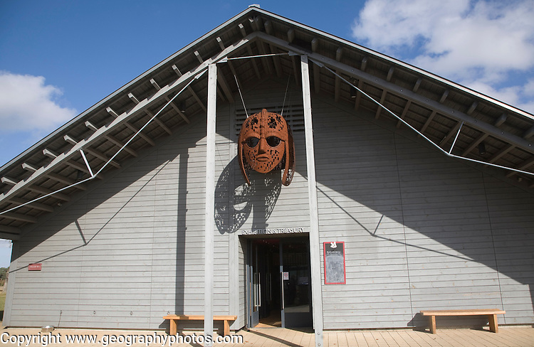 Reconstruction replica Anglo Saxon helmet at Sutton Hoo, Suffolk, England