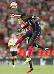 Athletic de Bilbao's Javi Eraso (l) and FC Barcelona's Samuel Umtiti during La Liga match. August 28,2016. (ALTERPHOTOS/Acero)