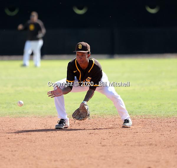CJ Abrams - San Diego Padres 2020 spring training (Bill Mitchell)