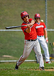 15 September 2019: Burlington Mayor and Cardinal infielder Miro Weinberger at bat against the Waterbury Warthogs at Burlington High School in Burlington, Vermont. The Warthogs edged out the Cardinals 2-1 in post season play. Mandatory Credit: Ed Wolfstein Photo *** RAW (NEF) Image File Available ***
