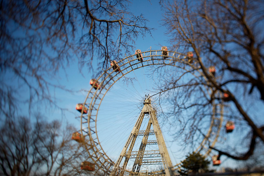 The Riesenrad (Ferris wheel) at the Prater, Vienna's famous luna park.