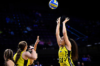 Central Manawa&rsquo;s Saviour Tui in action during the Beko Netball League - Central Manawa v Waikato Bay of Plenty at TSB Bank Arena, Wellington, New Zealand on Sunday 21 April 2019. <br /> Photo by Masanori Udagawa. <br /> www.photowellington.photoshelter.com