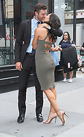 NEW YORK, NY August 07: Becca Kufrin, Garrett Yrigoyen at Build Series in New York City on August 07, 2018. <br /> CAP/MPI/RW<br /> &copy;RW/MPI/Capital Pictures