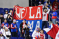 Harrison, NJ - Thursday March 01, 2018: Club Deportivo Olimpia fans. The New York Red Bulls defeated C.D. Olimpia 2-0 (3-1 on aggregate) during a 2018 CONCACAF Champions League Round of 16 match at Red Bull Arena.