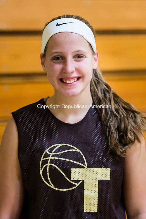 THOMASTON, CT- 30 November 2015-113015EC13-   Thomaston basketball's Sam Brostek. Monday was the first day of practice for the Golden Bears. Erin Covey Republican-American
