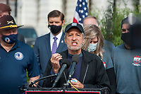 Comedian Jon Stewart, offers remarks during a press conference regarding legislation to assist veterans exposed to burn pits, outside the US Capitol in Washington, DC., Tuesday, September 15, 2020. <br /> Credit: Rod Lamkey / CNP /MediaPunch