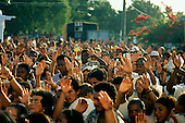 Arraial d'Ajuda, Porto Seguro, Bahia State, Brazil; Roman Catholic religious procession of Nossa Senhora d'Ajuda.