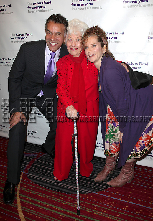 Brian Stokes Mitchell, Charlotte Rae & Amy Stiller.attending the Actors Fund Gala honoring Harry Belafonte, Jerry Stiller, Anne Meara & David Steiner at the Mariott Marquis Hotel in New York City on 5/21/12