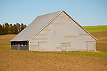 Corrugated barn, Washington's Palouse