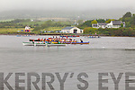 There was plenty of action at the Cahersiveen Regatta on Sunday last pictured here the Girls U16 race which had an entry of 12 crews, with the ladies of the Portmagee boat El Nino taking 1st place.