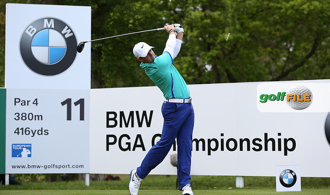Rory MCILROY (NIR)  during Round One of the 2015 BMW PGA Championship over the West Course at Wentworth, Virginia Water, London. Picture David Lloyd, www.golffile.ie: 21/05/2015