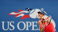 NEW YORK, USA - SEPT 10, Angelique Kerber of Germany returns serves to Karolina Pliskova of Czech Republic during their Women's Singles Final Match of the 2016 US Open at the USTA Billie Jean King National Tennis Center on September 10, 2016 in New York.  photo by VIEWpress