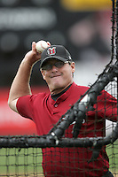 July 7 2009: Bob Didier, manager of the Yakima Bears, before game against the Everett AquaSox at Everett Memorial Stadium in Everett,WA.  Photo by Larry Goren/Four Seam Images