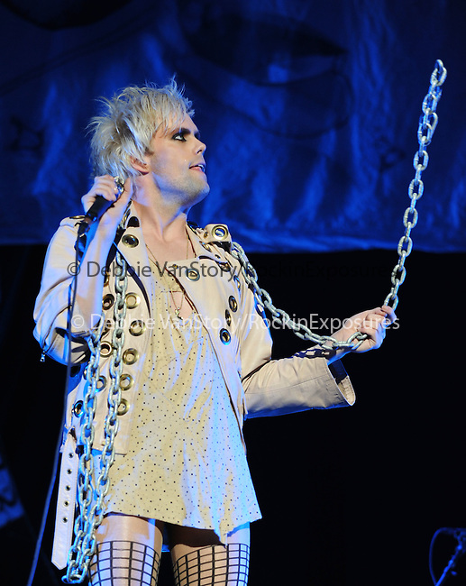 Semi Precious Weapons is the opening act for Lady Gaga & her Monster Ball Tour held at The Staples Center in Los Angeles, California on August 11,2010                                                                               © 2010 DVS / RockinExposures