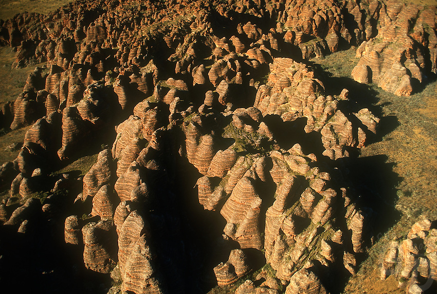Aerial of the Bungle Bungle National Park, in north western Australia, Kimberly Region PURNULULU NATIONAL PARK, WA. Purnululu National Park in Western Australia comprises the Bungle Bungle Range; its distinctive beehive formation was shaped by 20 million years of erosion and uplift. The area has been used by Aboriginal people for thousands of years as a hunting ground during the wet season when plant and animal life is more abundant. As a result it is rich in Aboriginal artwork and burial sites, but few Europeans knew of its existence until the mid-1980s. The area was declared a national park in 1987, and a World Heritage Site in 2003 (for natural beauty) and again in 2005 (for cultural significance).