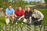 TEE: Teeing of in the 4 ball classic sponsored by Jim McGrath Oyster Tavern on Saturday morning in Ardfert Golf Club l-r: Noel McCoy, Aidan O'Sullivan, Brian Neenan and Pat Reidy..