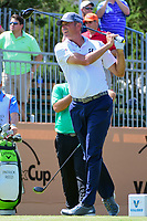 Matt Kuchar (USA) watches his tee shot on 10 during round 2 of the Valero Texas Open, AT&amp;T Oaks Course, TPC San Antonio, San Antonio, Texas, USA. 4/21/2017.<br /> Picture: Golffile | Ken Murray<br /> <br /> <br /> All photo usage must carry mandatory copyright credit (&copy; Golffile | Ken Murray)